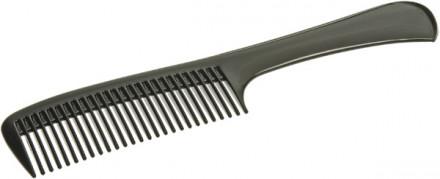 Расческа-гребень с ручкой EUROSTIL 22см черная: фото